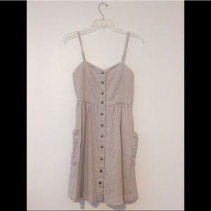Linen button-up dress